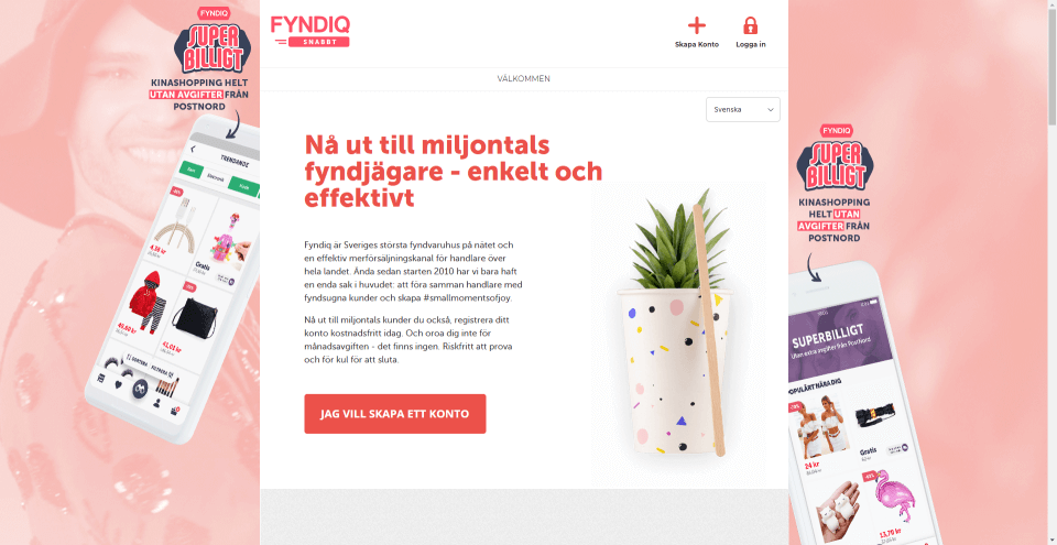 Smidig Fyndiq integration