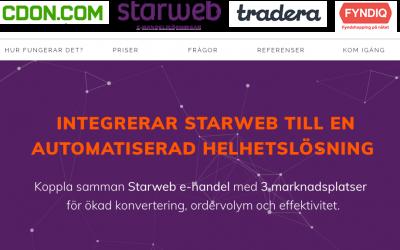 Starweb lanserar en helhetslösning för att sälja på marknadsplatser