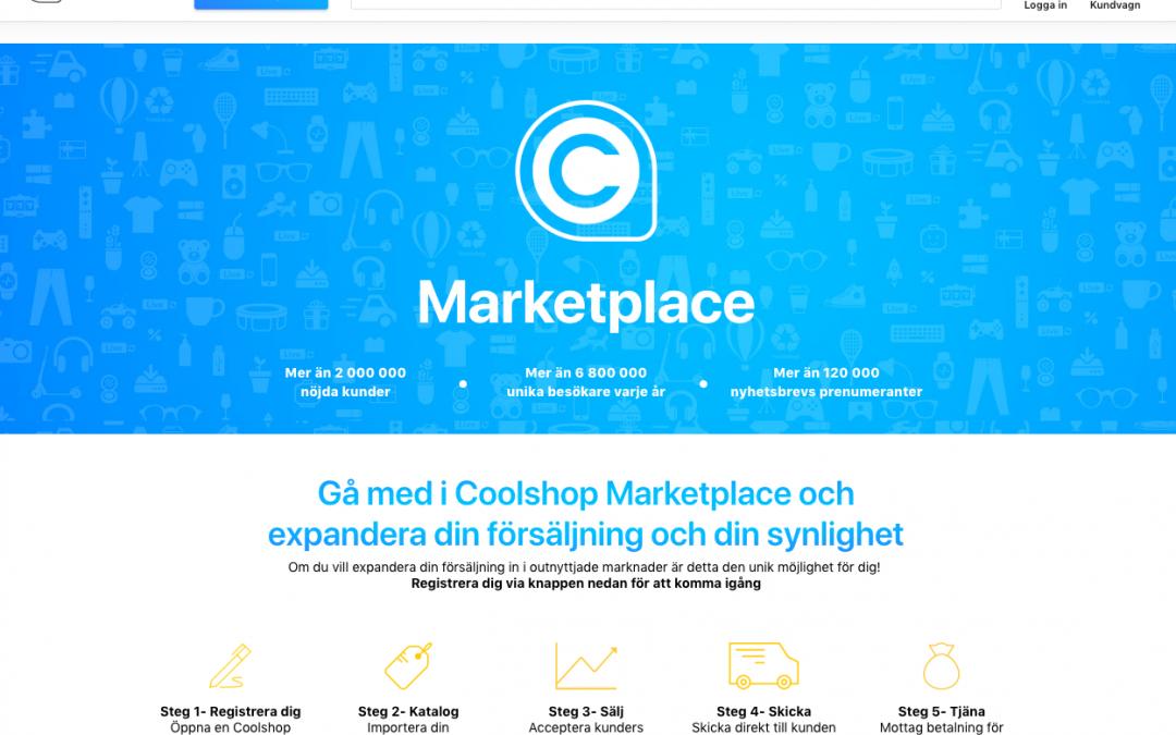 Sharespine integrerar Coolshop Marketplace