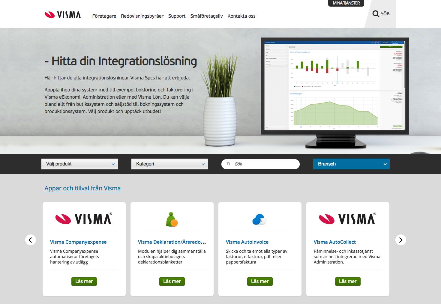 Smidig Visma Administration integration