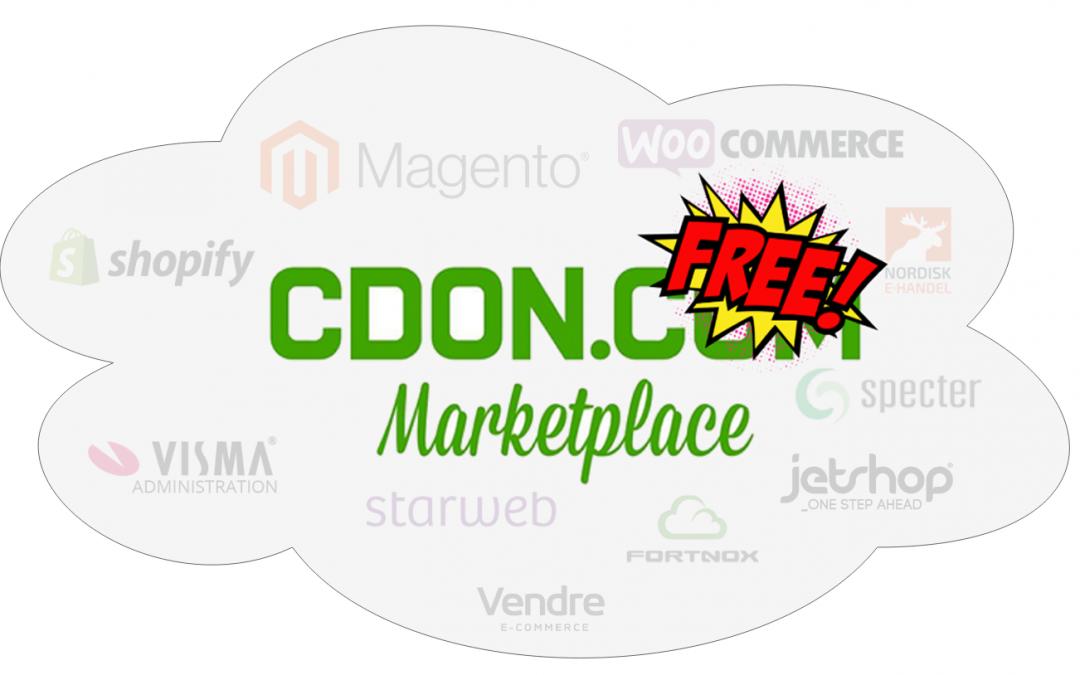 Gratistjänst för handlare på CDON Marketplace